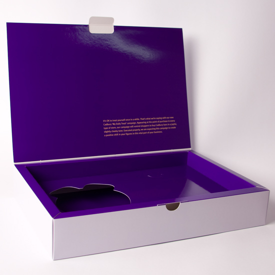 Large Hinged Lid Presentation box with Simple Plinth