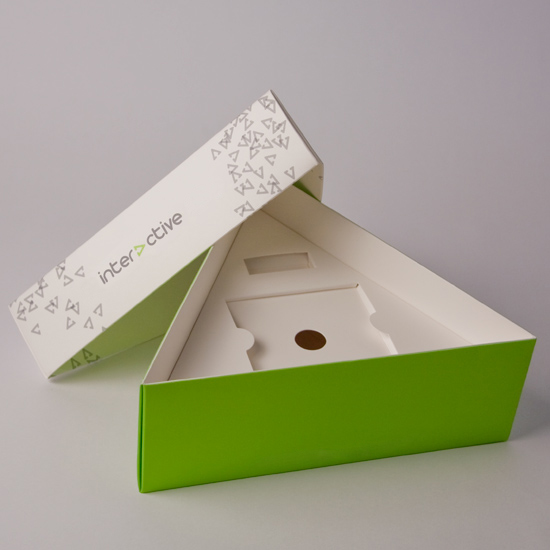Triangular Lift Off Lid Presentation Box