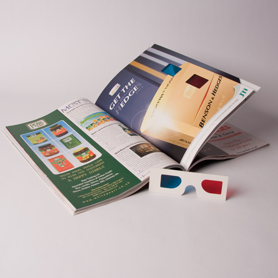 Brochure With Integral 3D Glasses