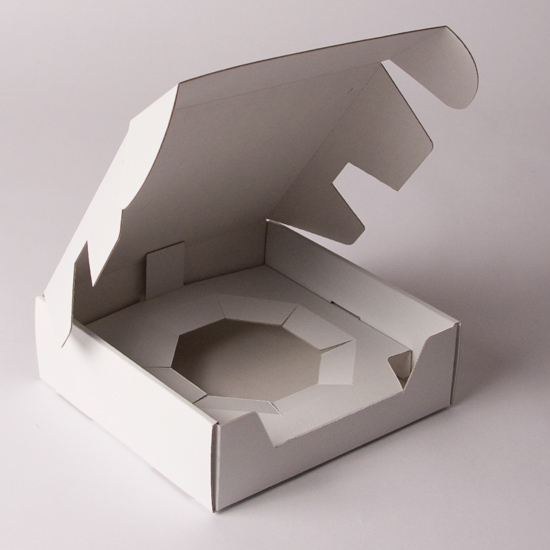 Unprinted Corrugated Cake Box
