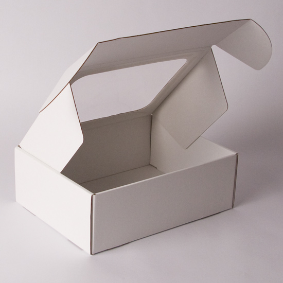 Plain Corrugated promotional box with Clear Window